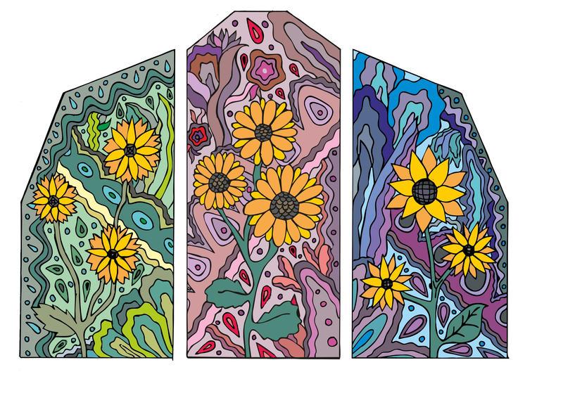 Sunflowers Vitrage by AmalgamaBu