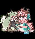Double Fullbody Chibi for Misuzee