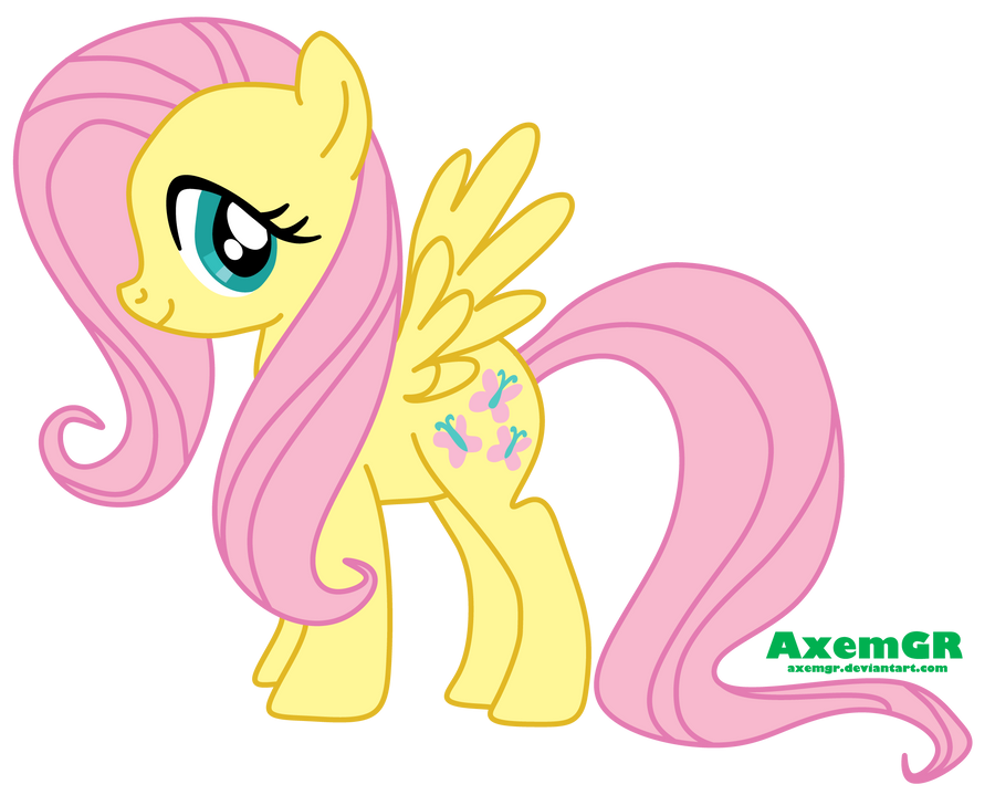 Fluttershy Vector,Trace result by AxemGR