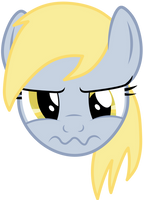 Unhappy Derpy is unhappy by AxemGR