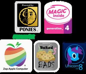 Pony computer Company logo's