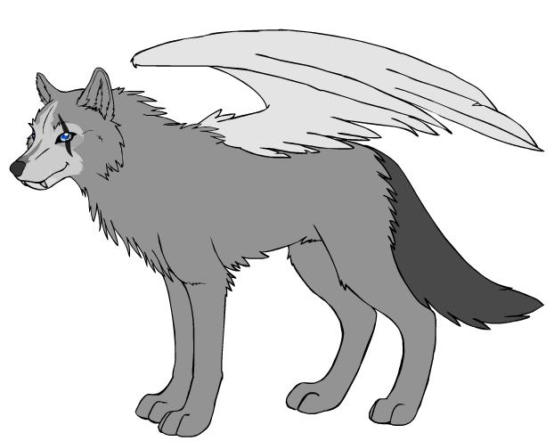 wolf with wings by NightGuardian51550 on DeviantArt