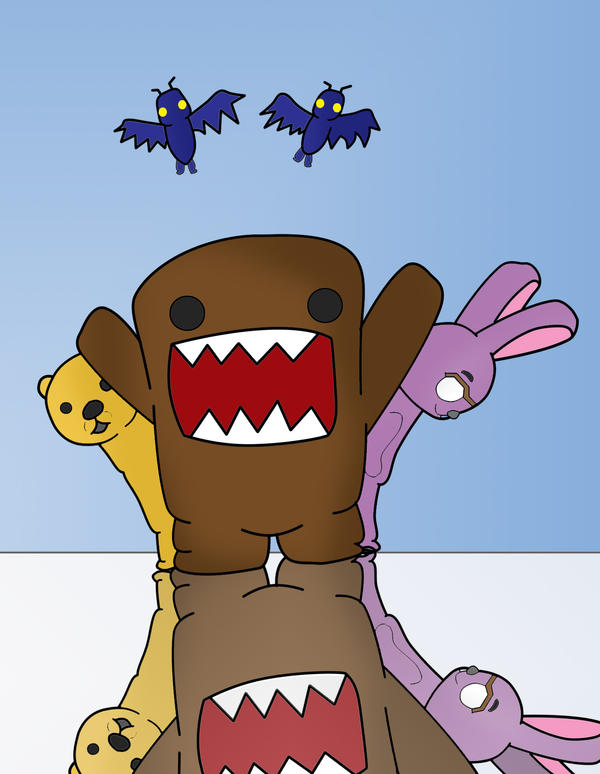 Domo and friends by zetsuandtobi280