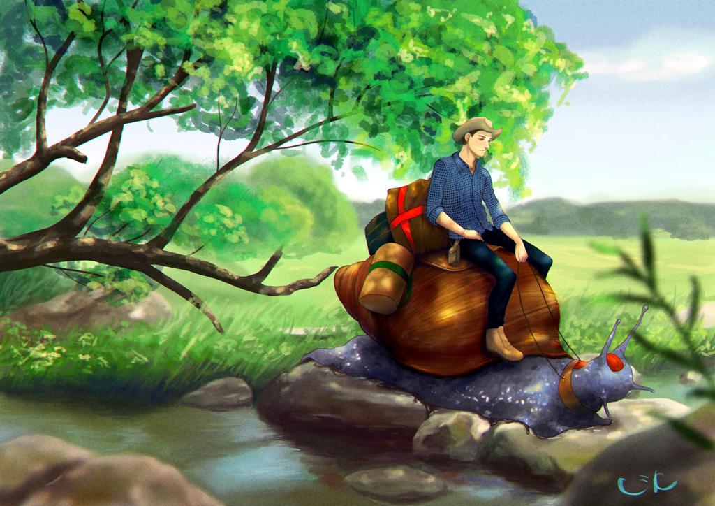 Snail rider by MeiMei-KaiTen