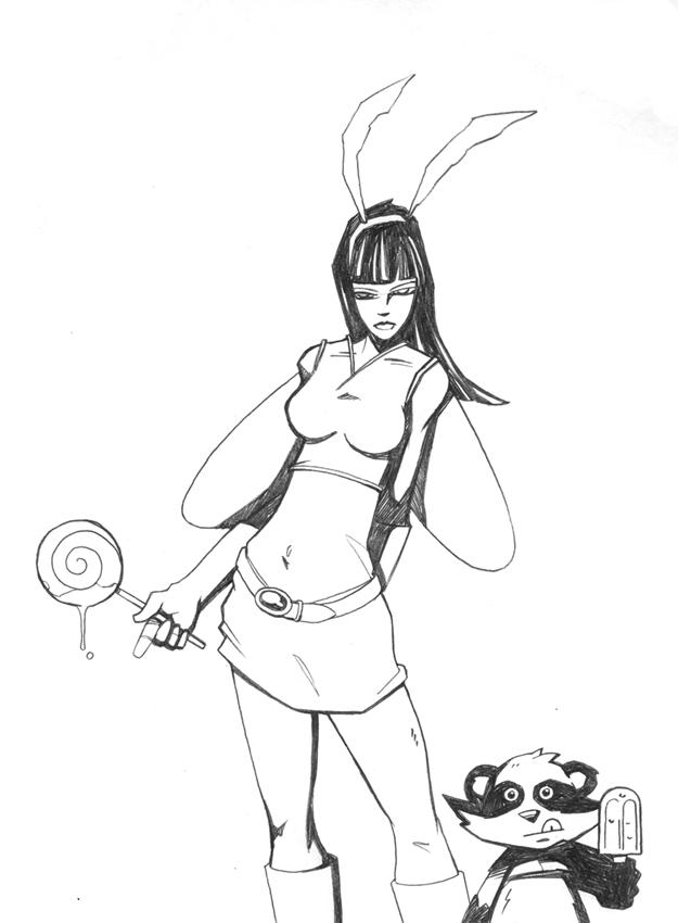 Moth and Tanuki by zombie-toast