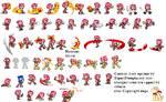 Custom Amy Sprites By Supersheep64 By Riverheroes2