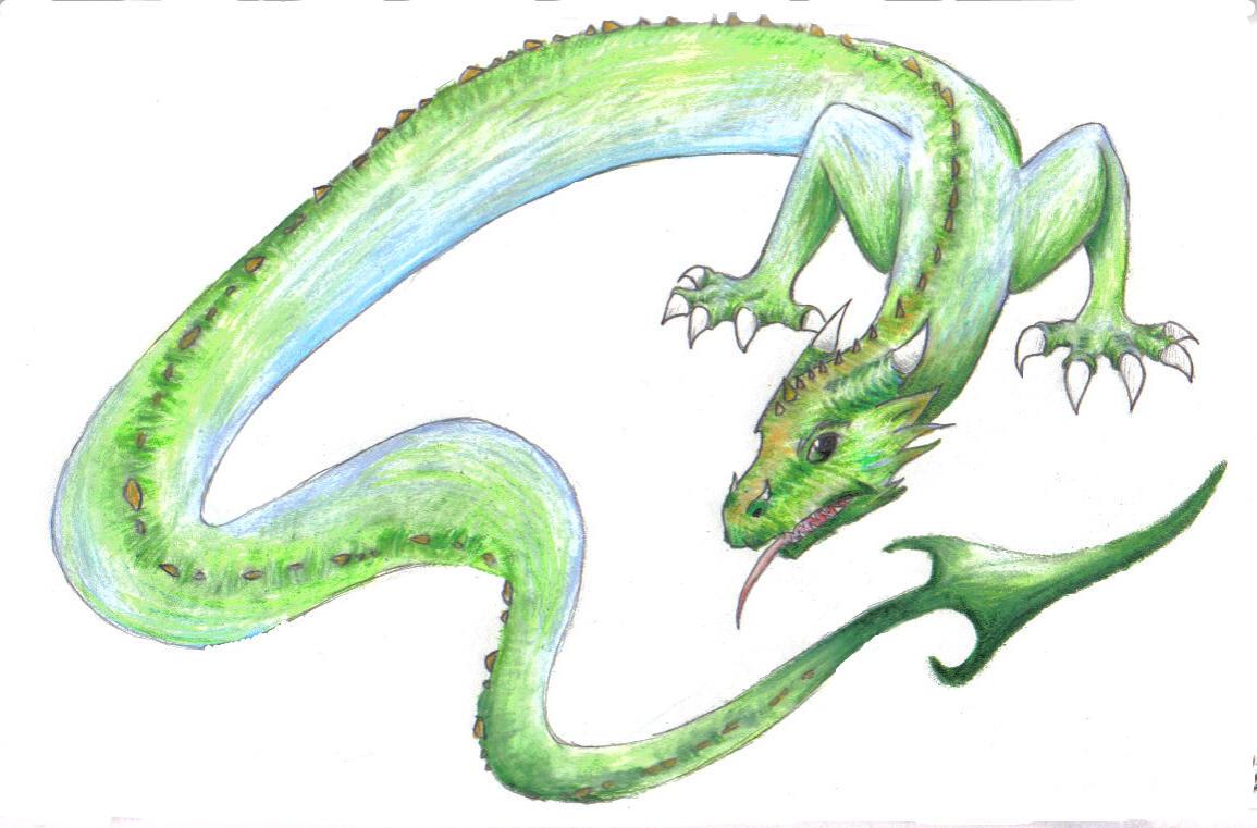 Lindworm dragon by silverdragon27 on DeviantArt