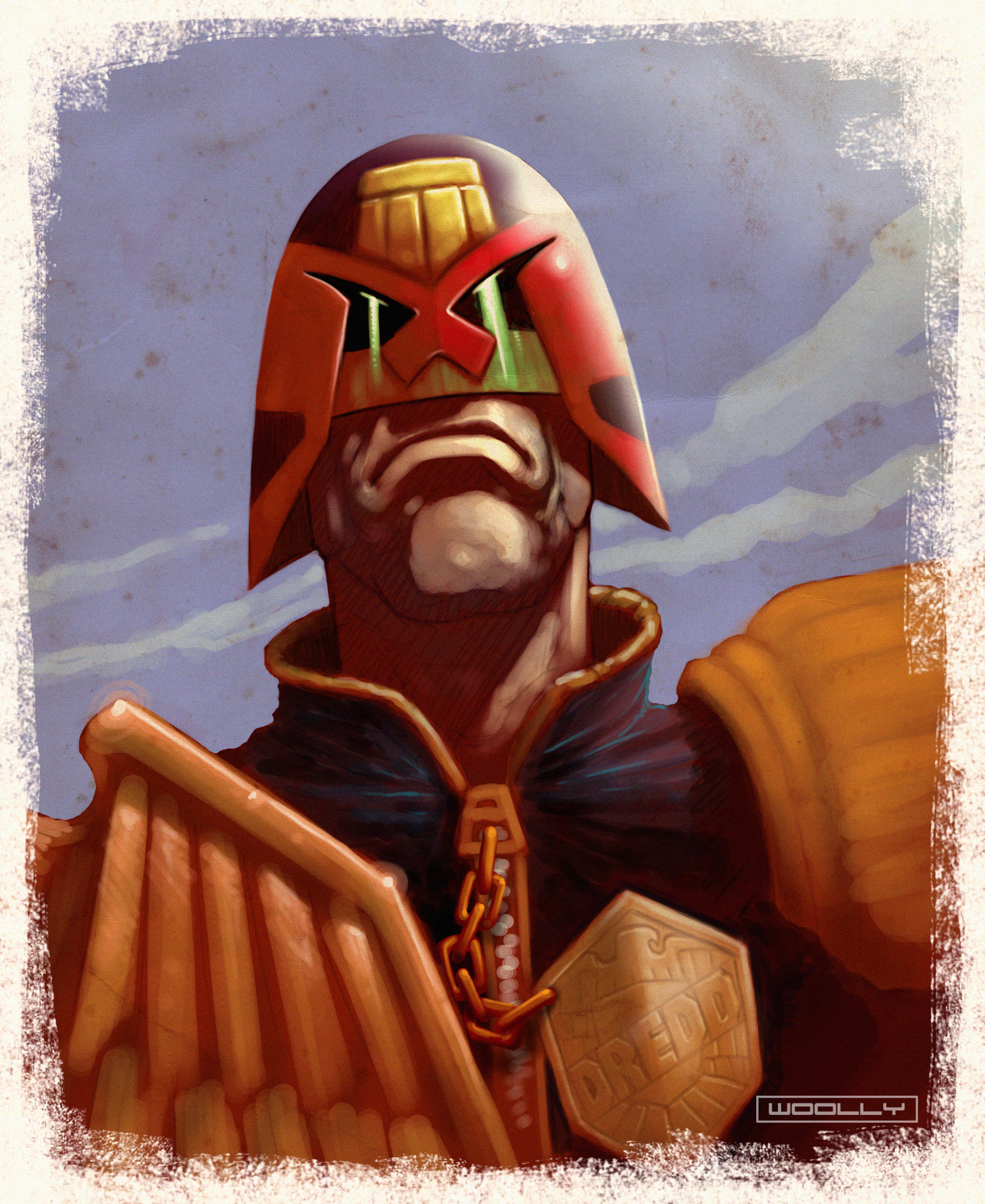Judge Dredd quick paint by Woolly76