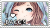 Bacon stamp by riepocaliptica