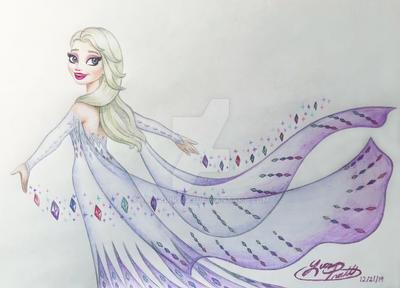 Frozen 2 - Elsa the Snow Queen Portrait
