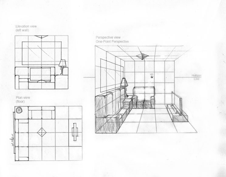 Floor Plan With Elevation And Perspective Pdf : Plan view elevation and perspective by kydee
