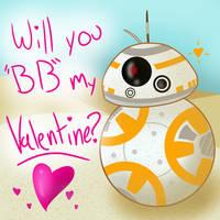 BB-8 Valentine by Kydee