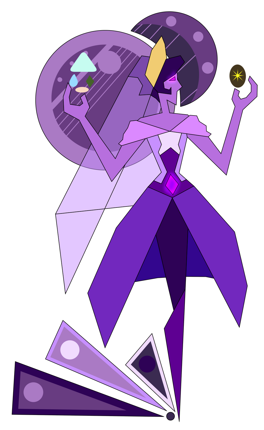 Russian purple diamond mural re do by kydee on deviantart for Yellow diamond mural