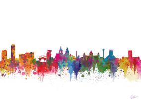 Liverpool UK skyline