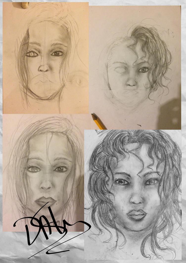 Face Practise - Art Dump #1 by SamDaly