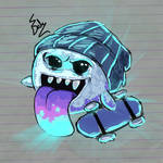 Skater Boo Doodle