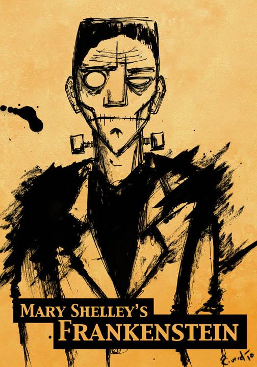 Frankenstein Book Cover Art : Frankenstein cover art by riverd on deviantart