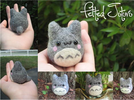 Felted Totoro