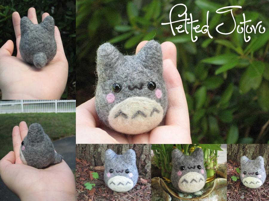 Felted Totoro by xxNostalgic