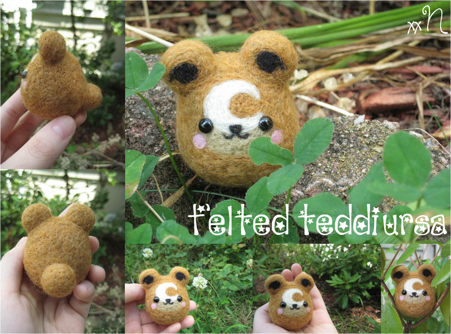 Felted Teddiursa by xxNostalgic