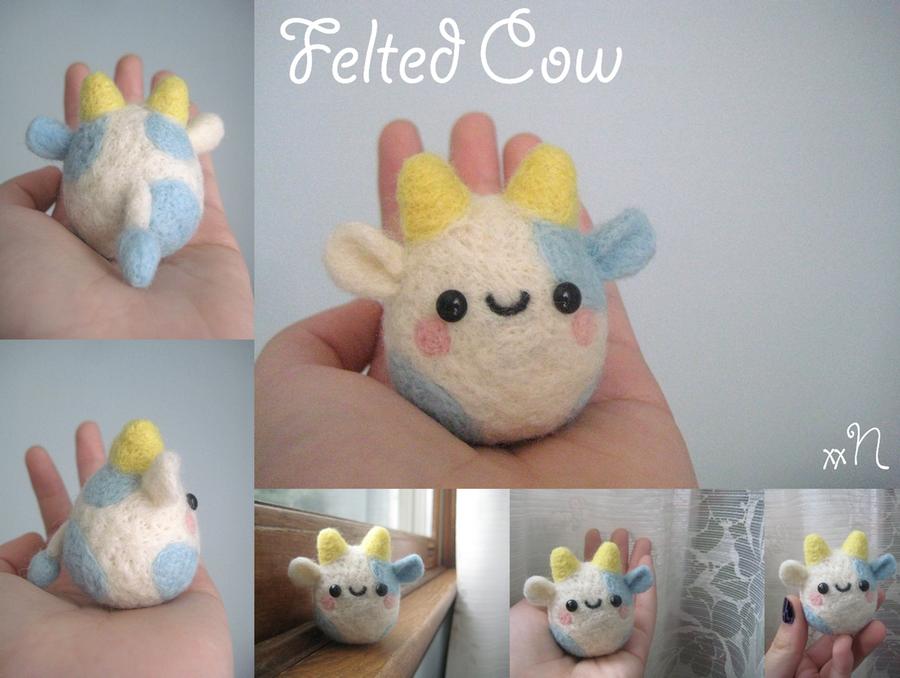 Felted Cow by xxNostalgic
