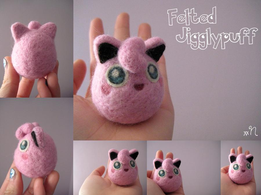 Felted Jigglypuff by xxNostalgic