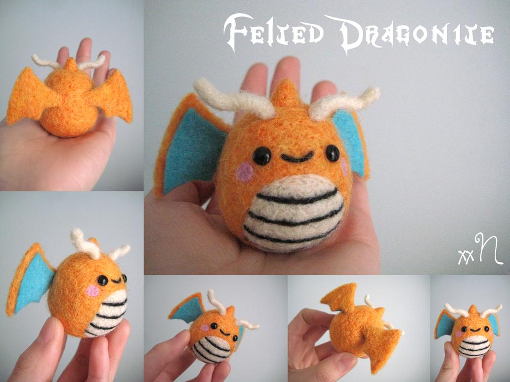 Felted Dragonite by xxNostalgic