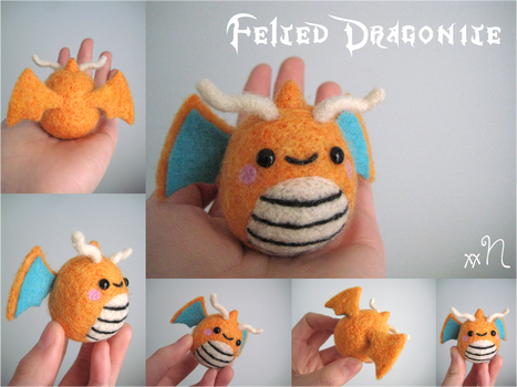 Felted Dragonite