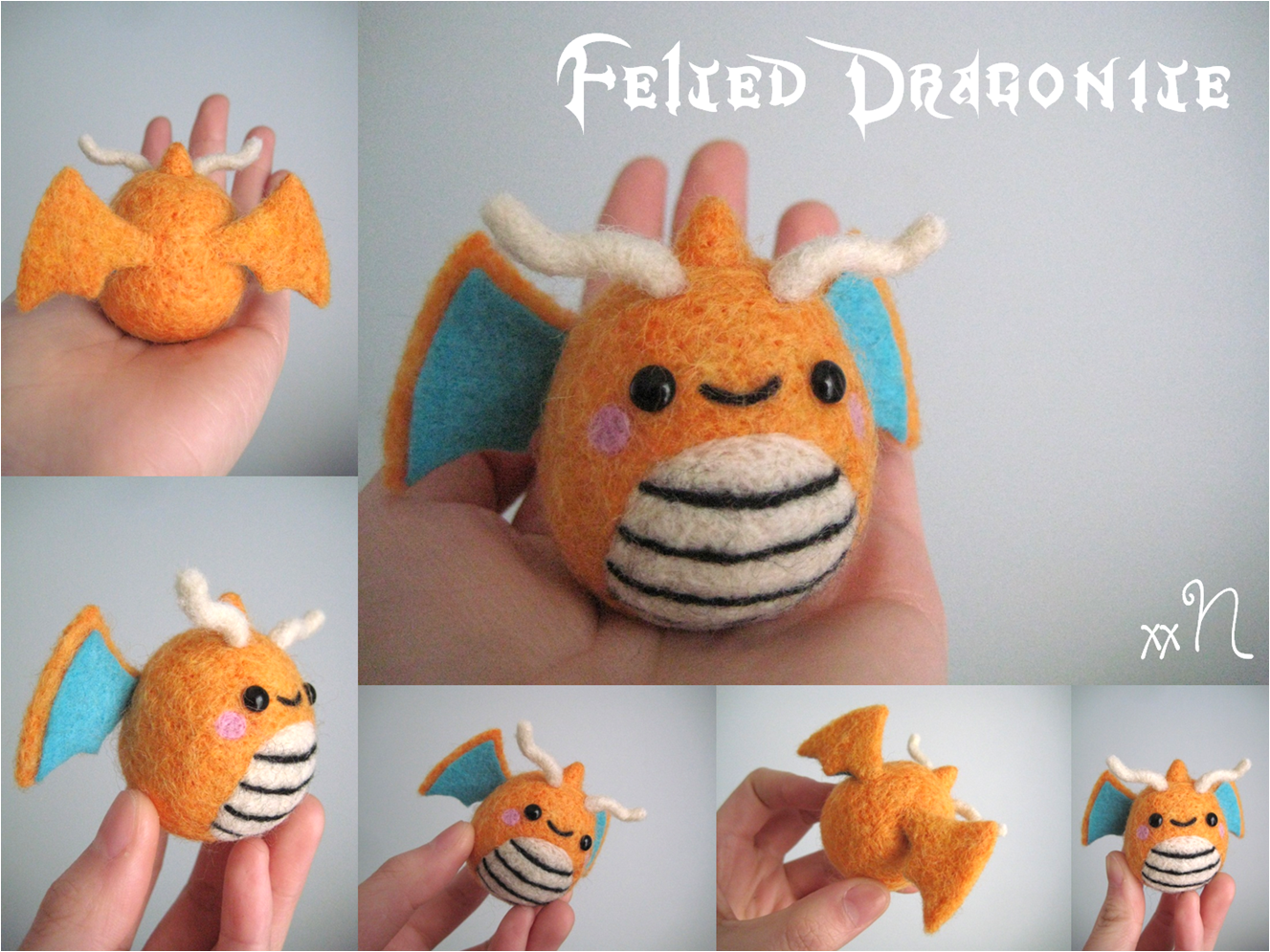 Felted Dragonite by xxNostalgic