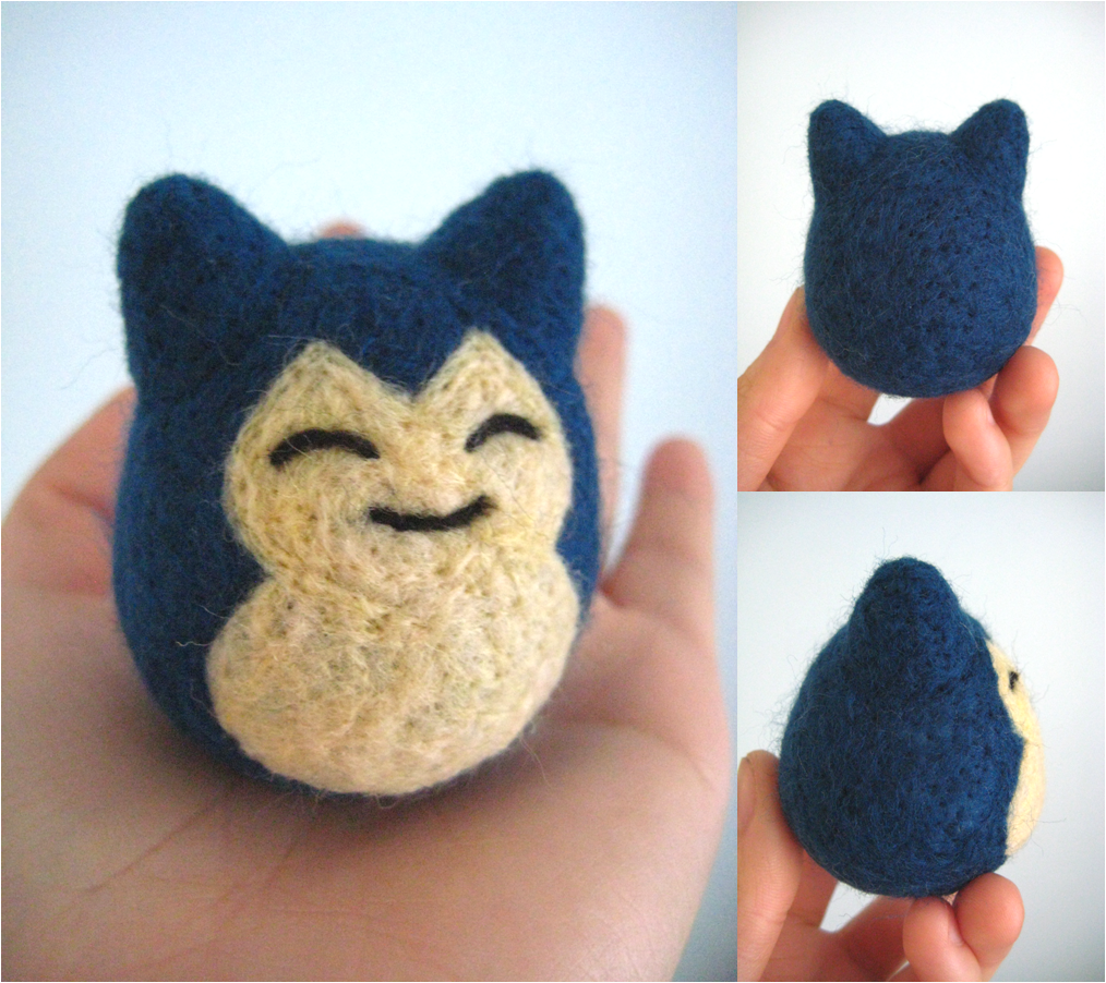 Felted Snorlax by xxNostalgic