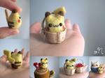 Miniature Felted Pikachu