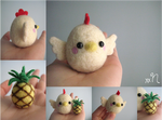 Felted Chicken And Pineapple