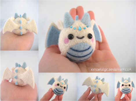 Felted Ice Queen Dragon