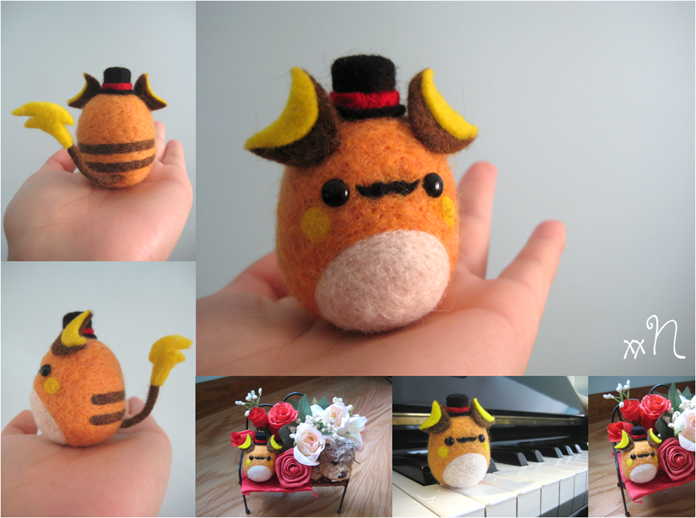 Felted Fancy Raichu by xxNostalgic