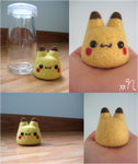 Felted Pikachu Pudding