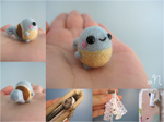 Miniature Felted Squirtle Phone Charm
