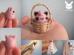Miniature Felted Jigglypuff Phone Charm