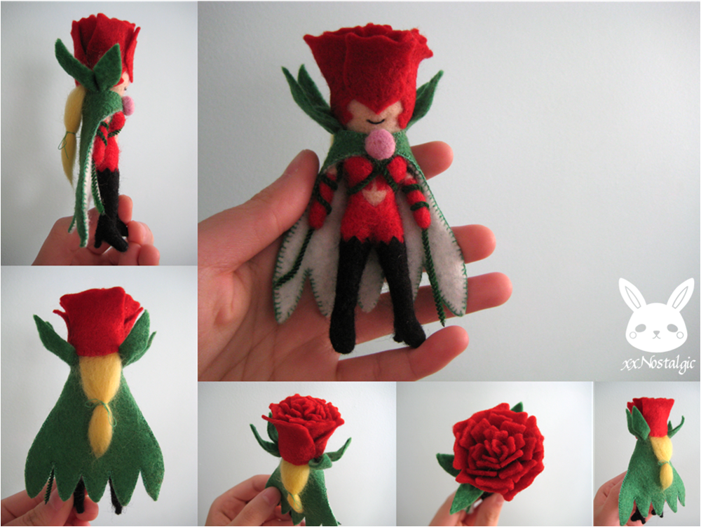Felted Rosemon by xxNostalgic