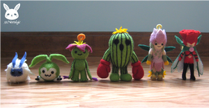 Felted Palmon Evolutions