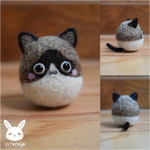 Felted Snowshoe Siamese