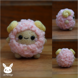 Felted Fluffy Sheep by xxNostalgic
