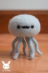 Felted Mustache Jellyfish