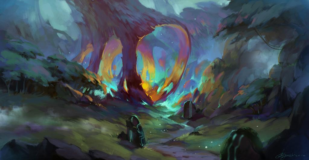 Magic fireball by SapDash