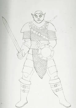 Half Orc Fighter WIP