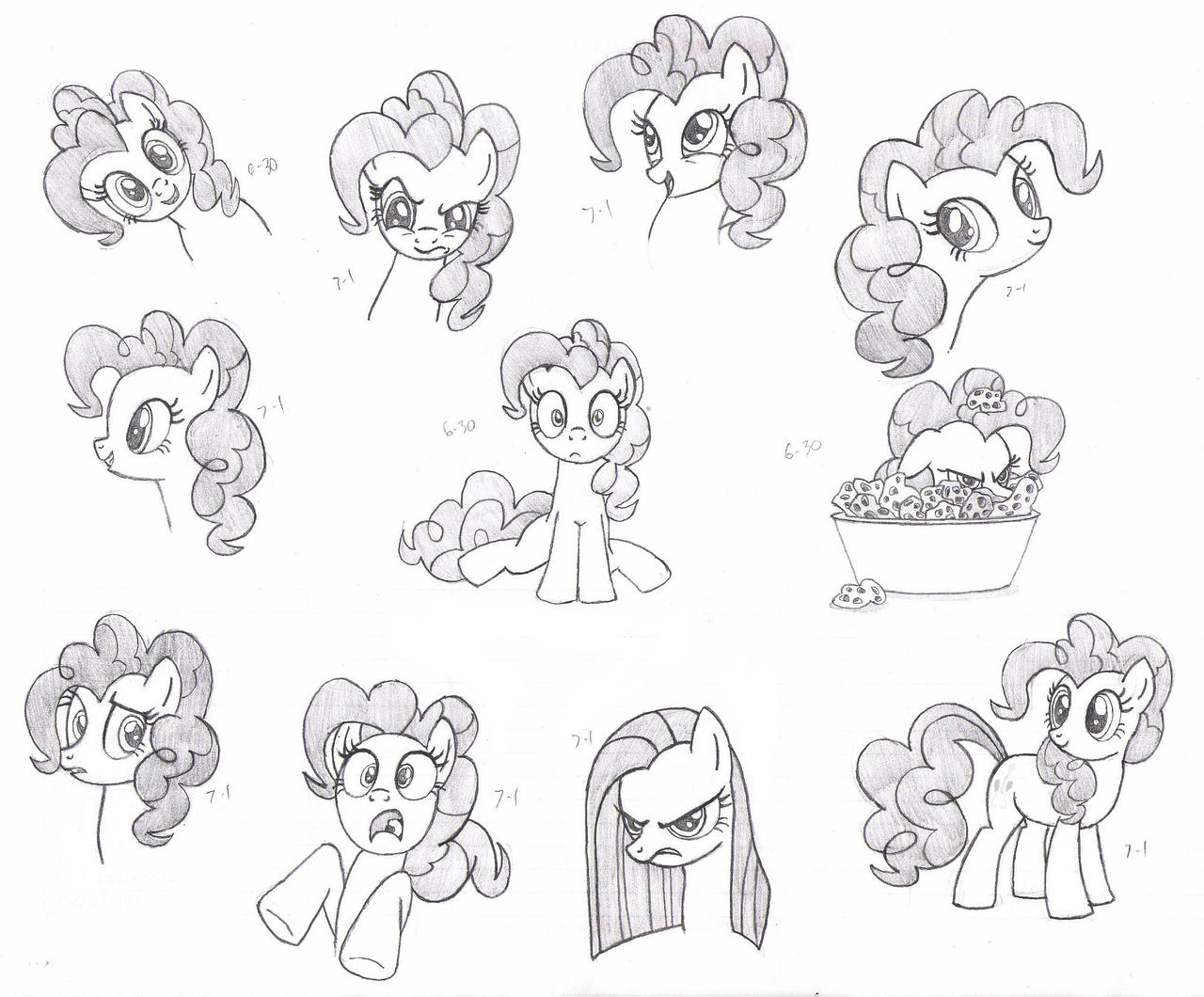 Pinkie Pie Faces - MLP FiM by Nimaru