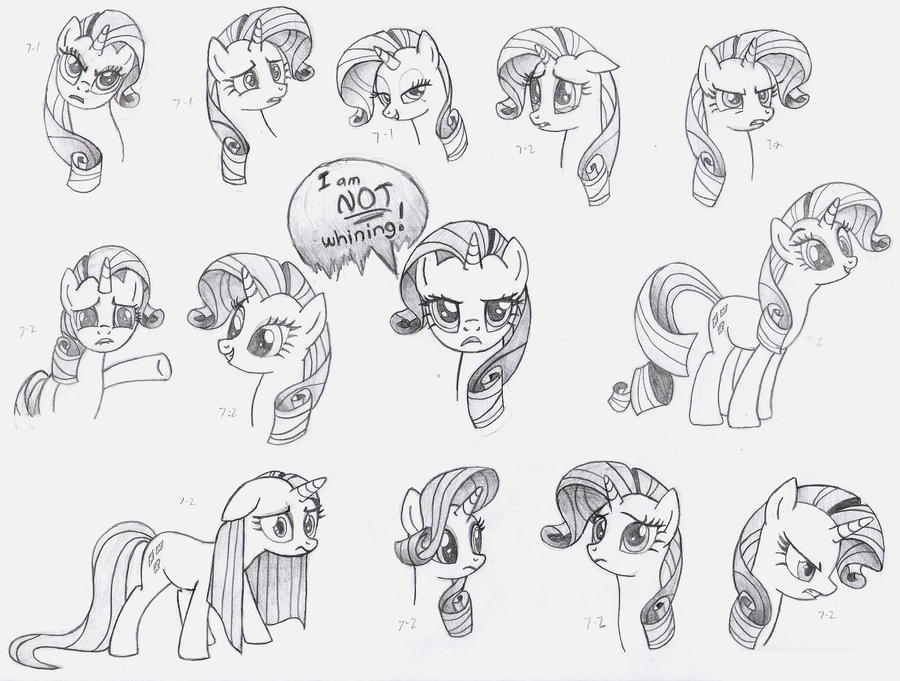 Rarity Faces MLP FiM by Nimaru