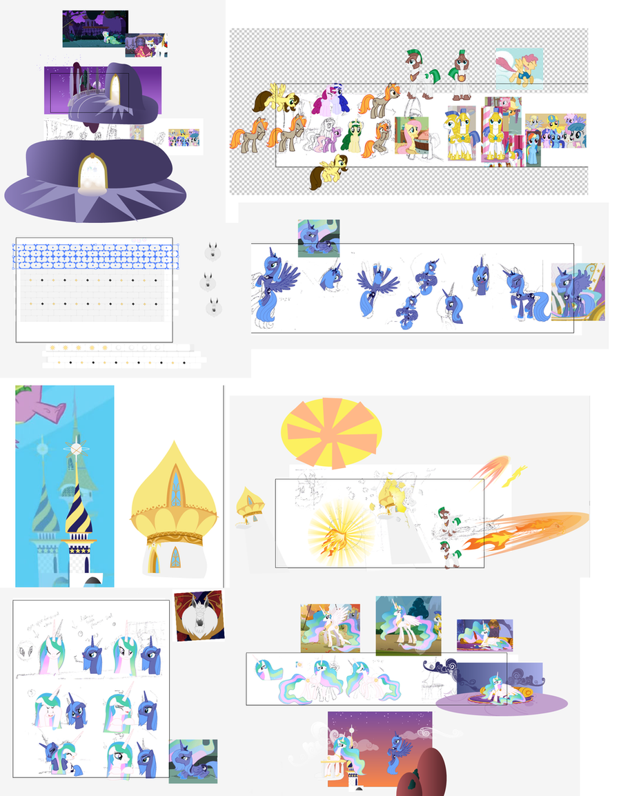 The many parts of an MLP comic by Nimaru