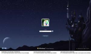 Custom Windows 7 Pony Login Screen