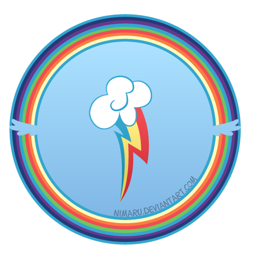 Rainbow Circle Png Cutie Circle Rainbow Dash by