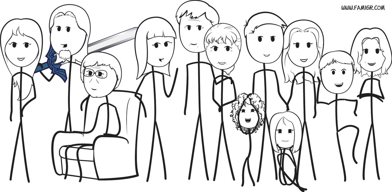 My Stick Family by Nimaru